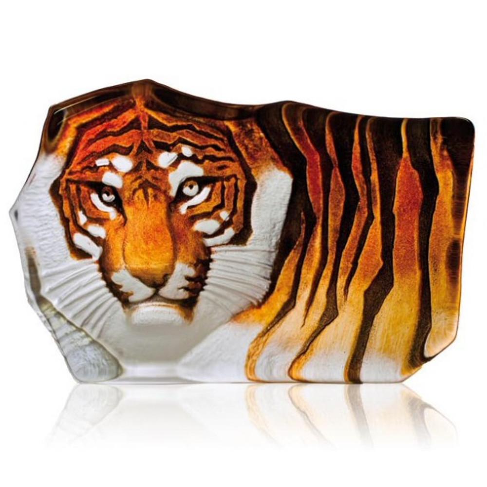 Large Tiger Crystal Sculpture Sculpture | 33851 | Mats Jonasson Maleras