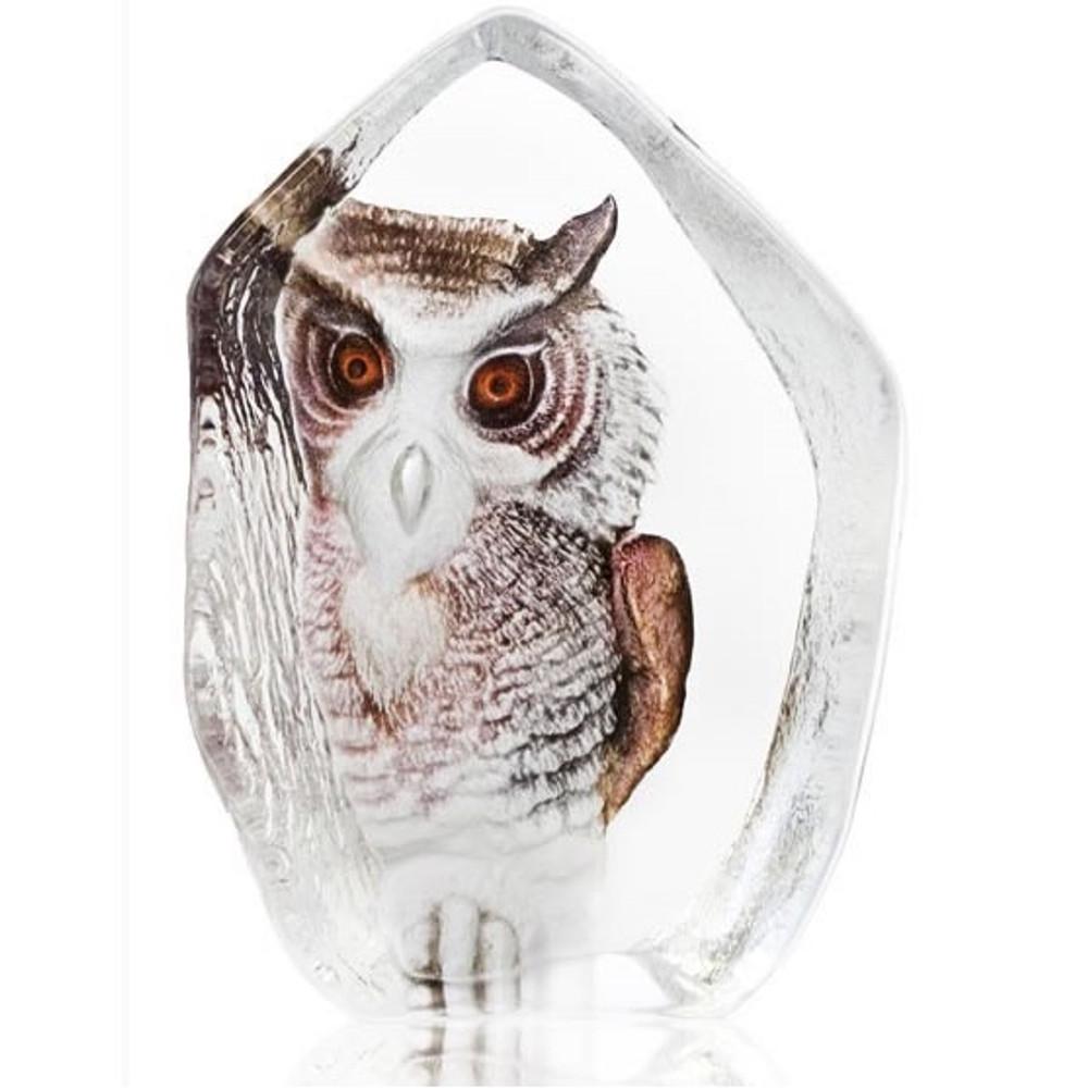 Owl Crystal Sculpture | 33863 | Mats Jonasson Maleras