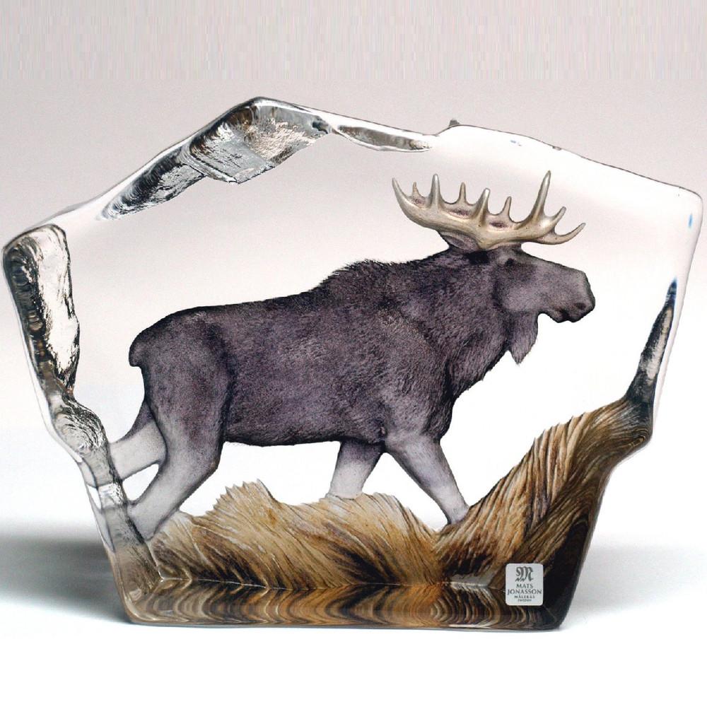 Moose Crystal Sculpture | 33888 | Mats Jonasson Maleras