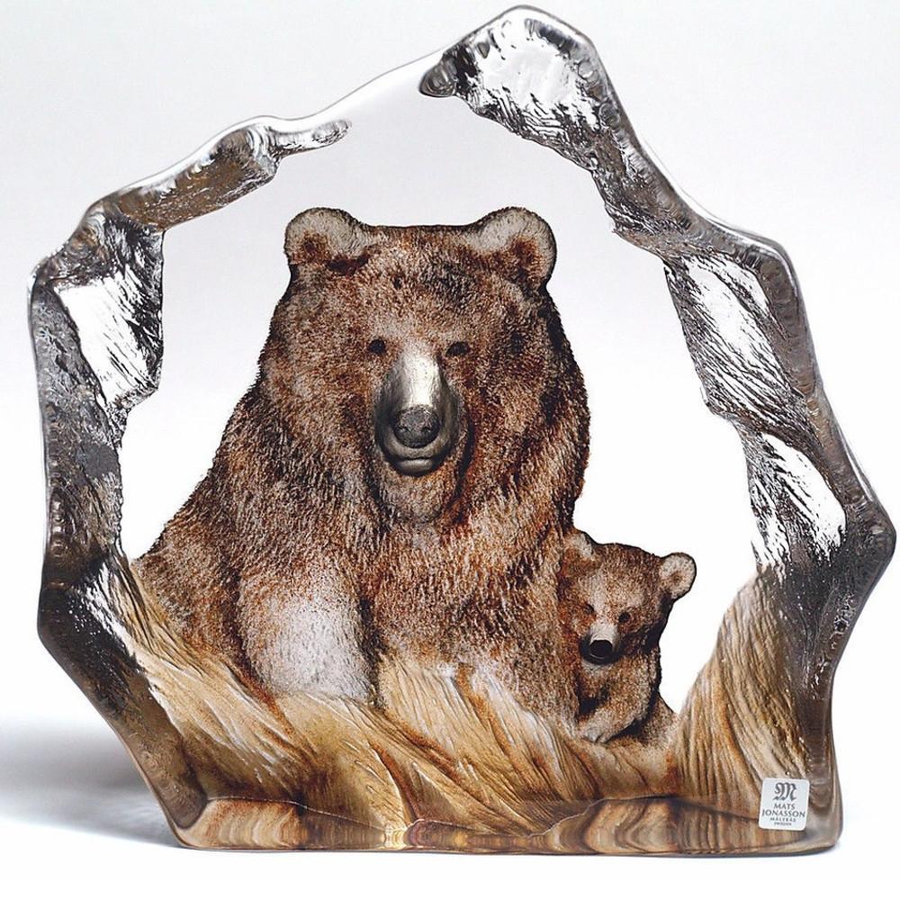 Bear Crystal Sculpture | 33889 | Mats Jonasson Maleras