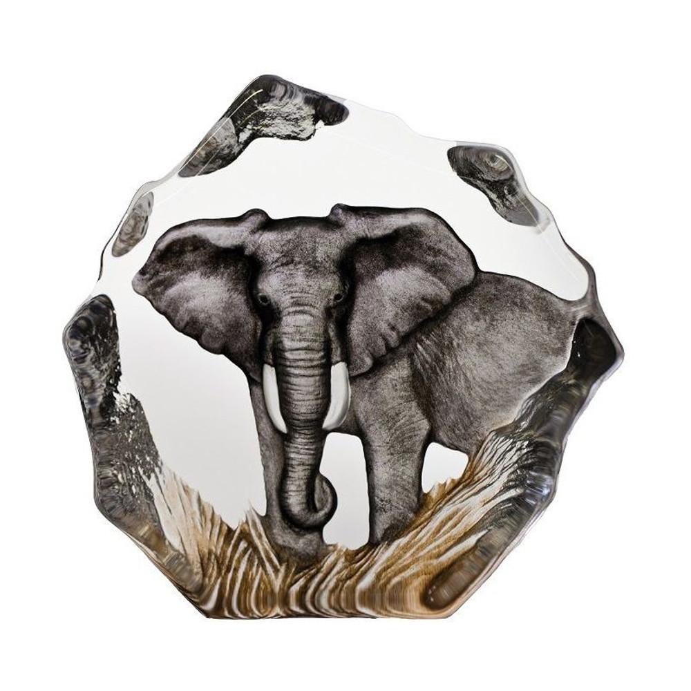 Color Elephant Crystal Sculpture | 33907 | Mats Jonasson Maleras