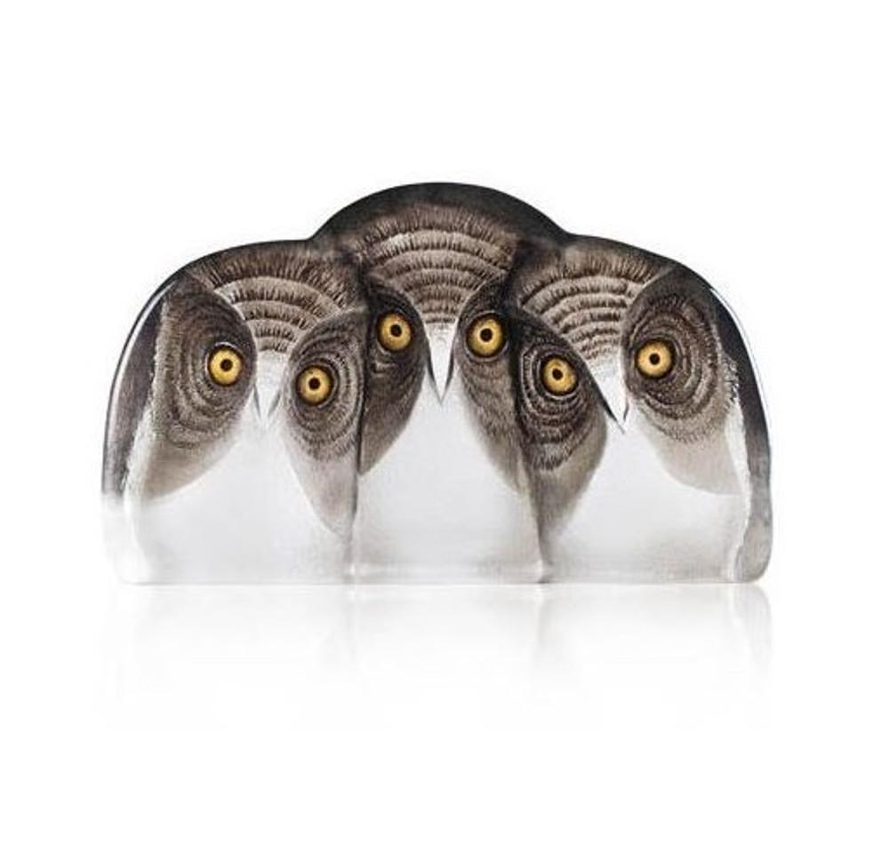 Three Owls Crystal Sculpture | 34107 | Mats Jonasson Maleras