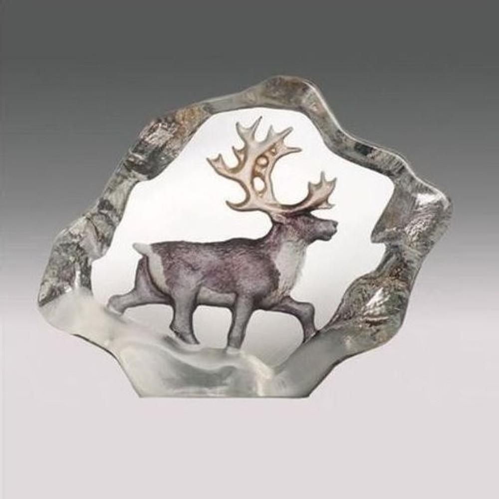 Reindeer Mini Color Crystal Sculpture | 88170 | Mats Jonasson Maleras