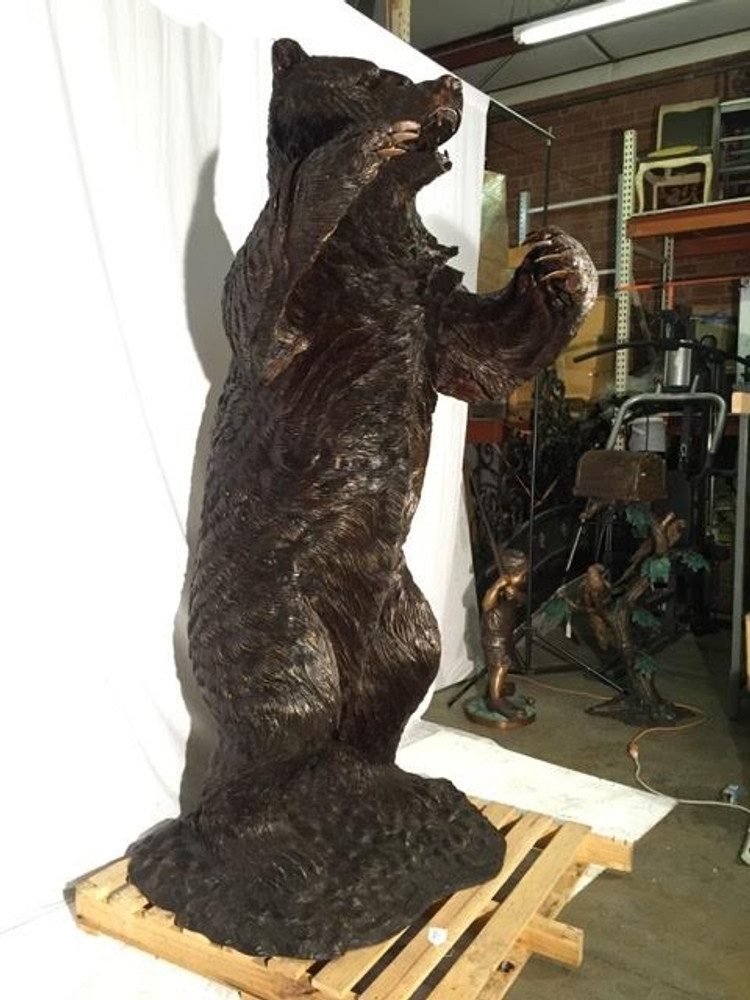 Grizzly Bear Life Size Bronze Outdoor Statue | Metropolitan Galleries | MGISRB10096 -2