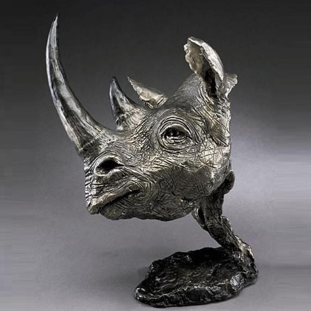Black Rhino Bronze Sculpture | Mark Hopkins | mhs012037