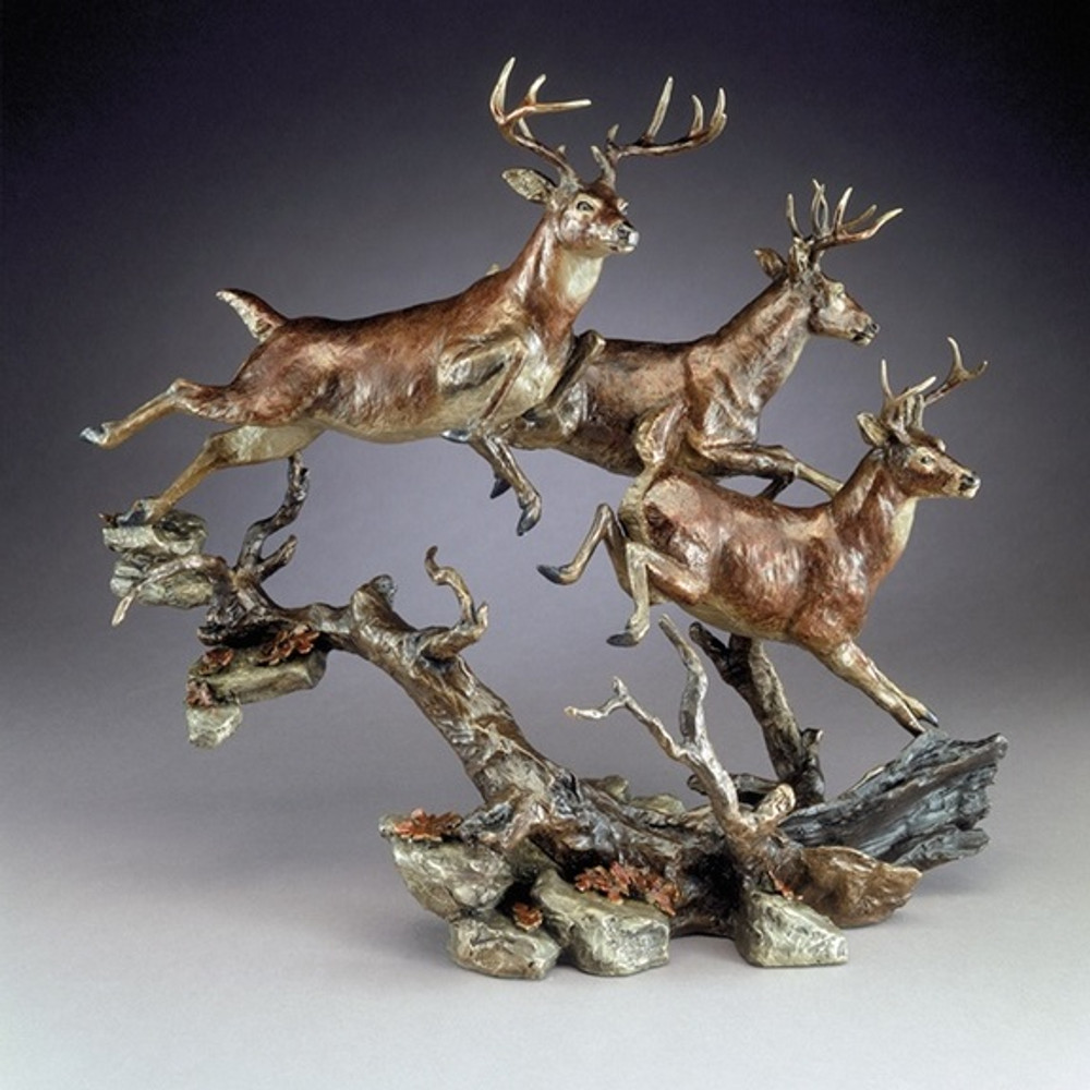 "Bronze Deer Sculpture ""Elusive"" 