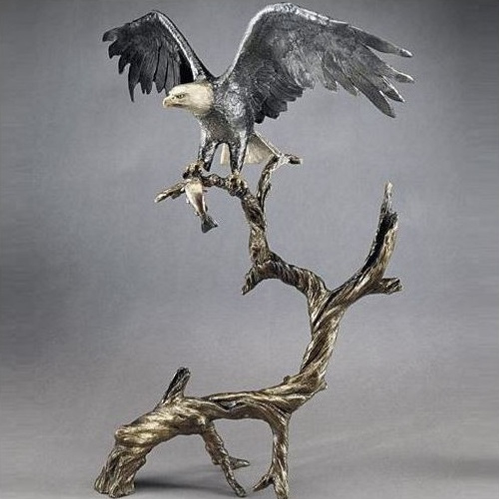 "Bronze Eagle Sculpture ""High Point""   Mark Hopkins   mhs015036"