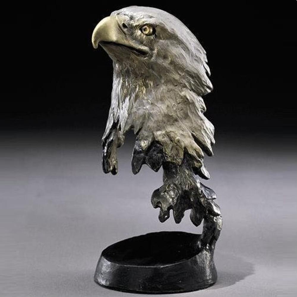 """Bronze Eagle Sculpture """"Liberty""""   Mark Hopkins   mhs022028"""
