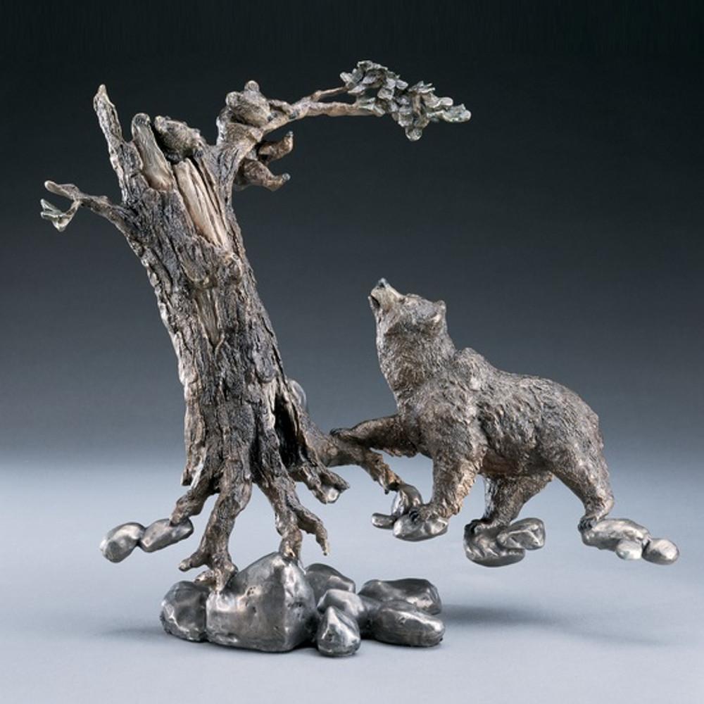 """Bronze Bear Sculpture """"Play Time""""   Mark Hopkins   mhs12095"""