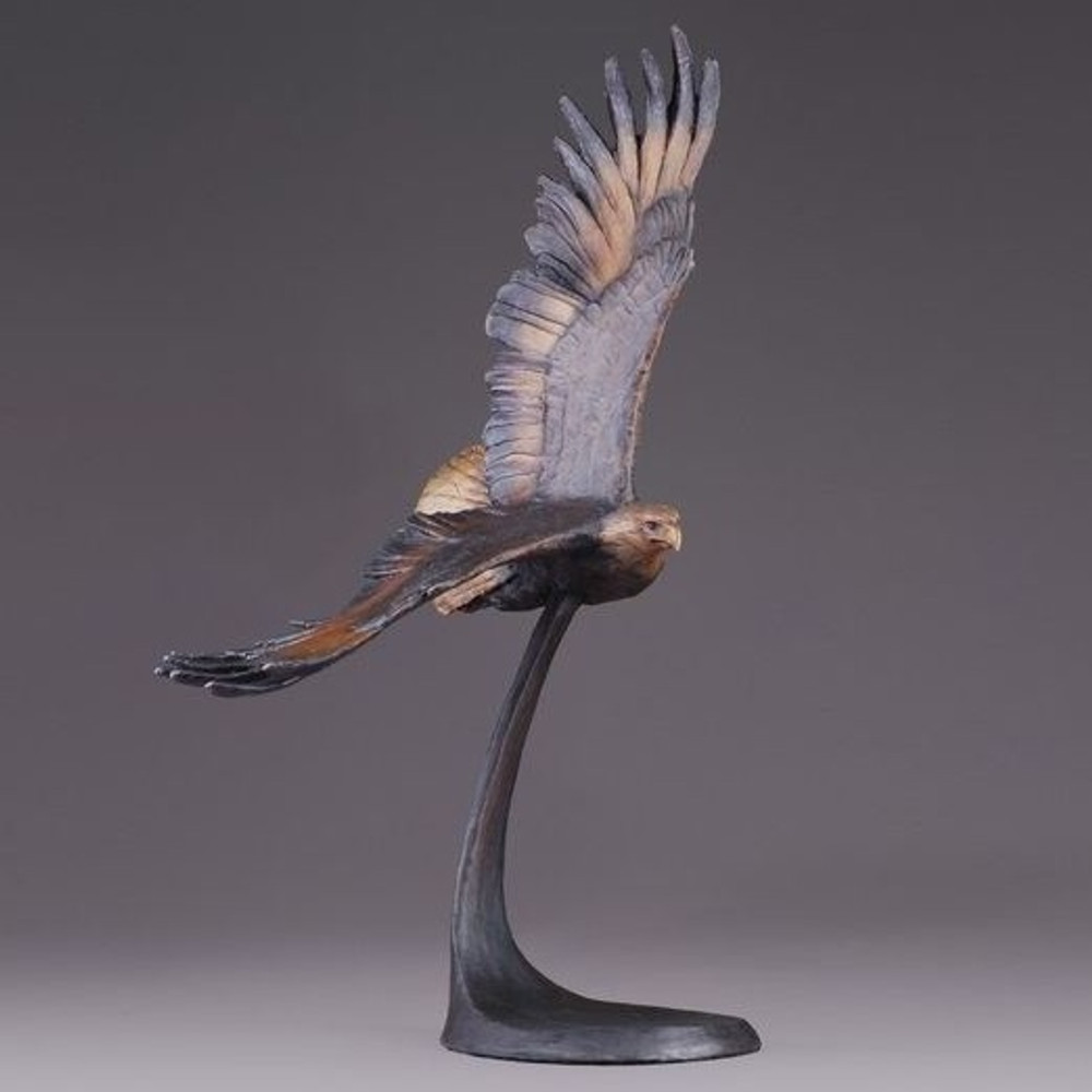 "Eagle Bronze Sculpture ""Wings of Freedom"" 