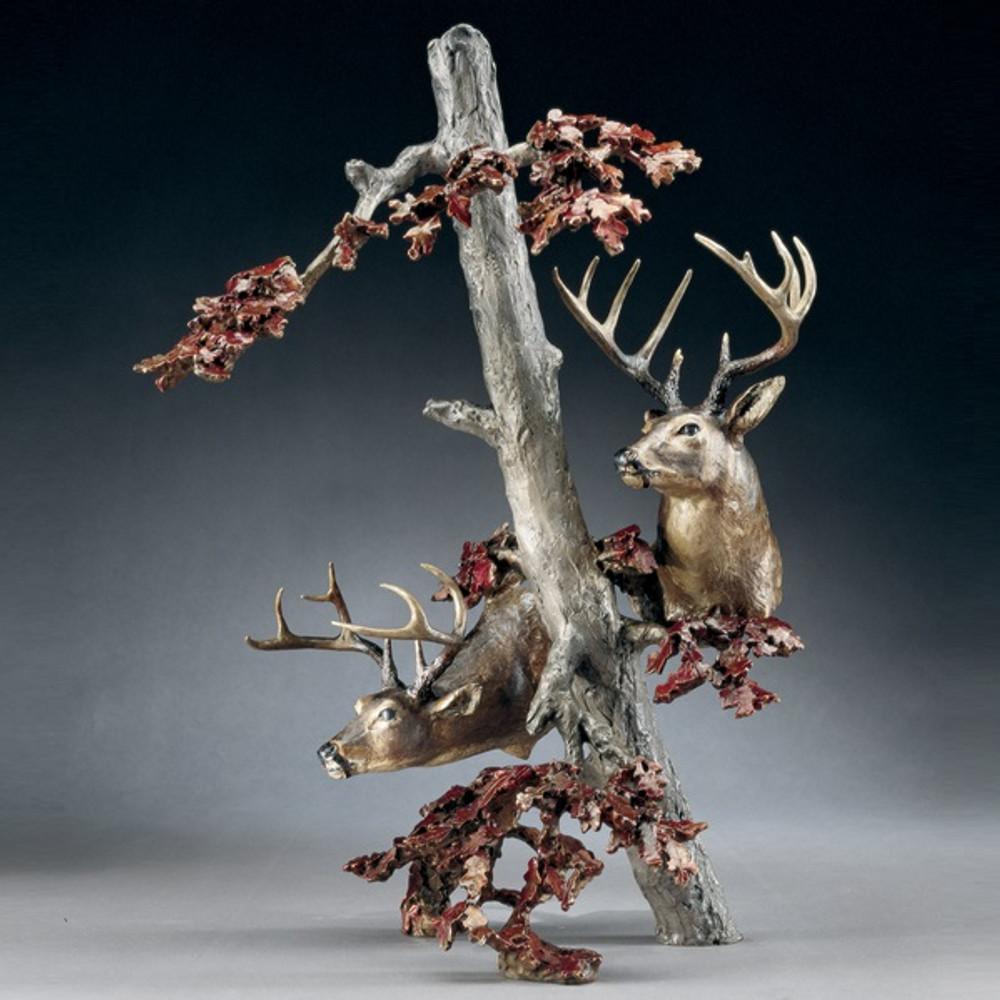"""Bronze Deer Sculpture """"Downwind""""   Mark Hopkins   mhs15064"""