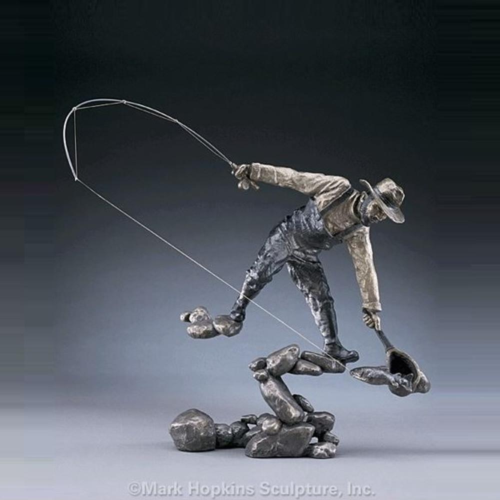 "Fisherman Bronze Sculpture ""The Moment""   Mark Hopkins   mhs21048"