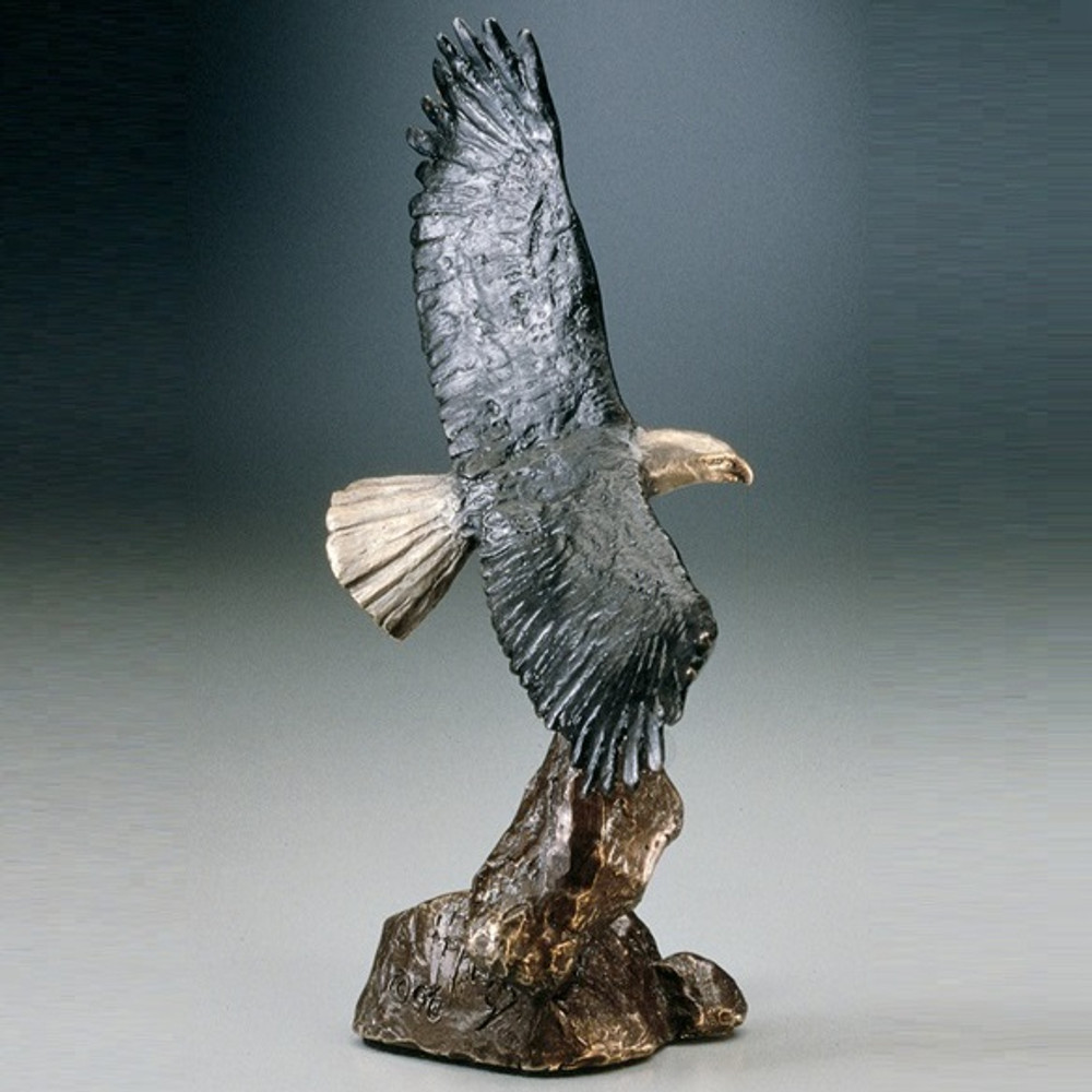 Bald Eagle Bronze Sculpture | Mark Hopkins | mhs22025