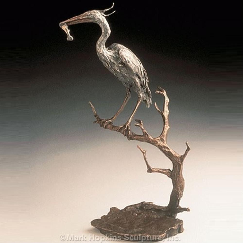 Heron Bronze Sculpture | Mark Hopkins | mhs41012