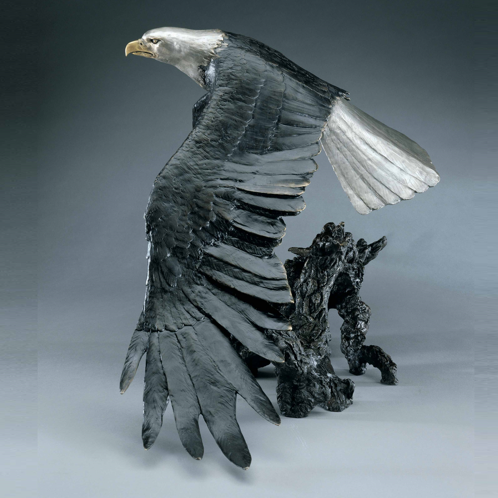 "Eagle Bronze Sculpture ""Day Break"" 