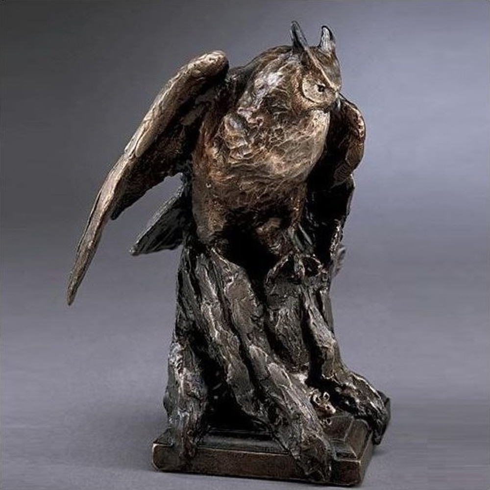 Owl Bronze Sculpture   Mark Hopkins   mhs81021