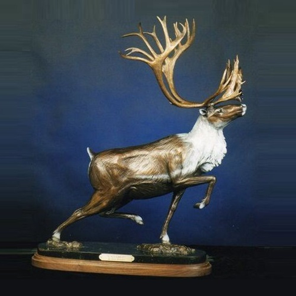 "Caribou Bronze Sculpture ""Untamed"" 