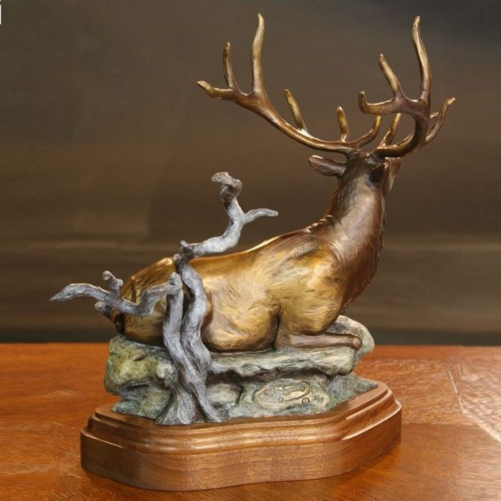 "Elk Bronze Sculpture ""Cloak N Daggers""   Scott Lennard   SLB14 -2"