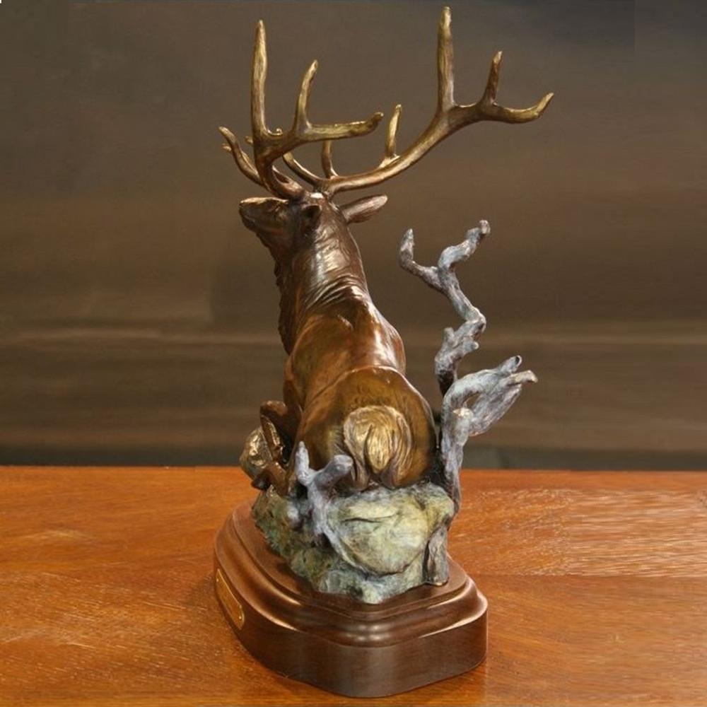 "Elk Bronze Sculpture ""Cloak N Daggers""   Scott Lennard   SLB14 -3"