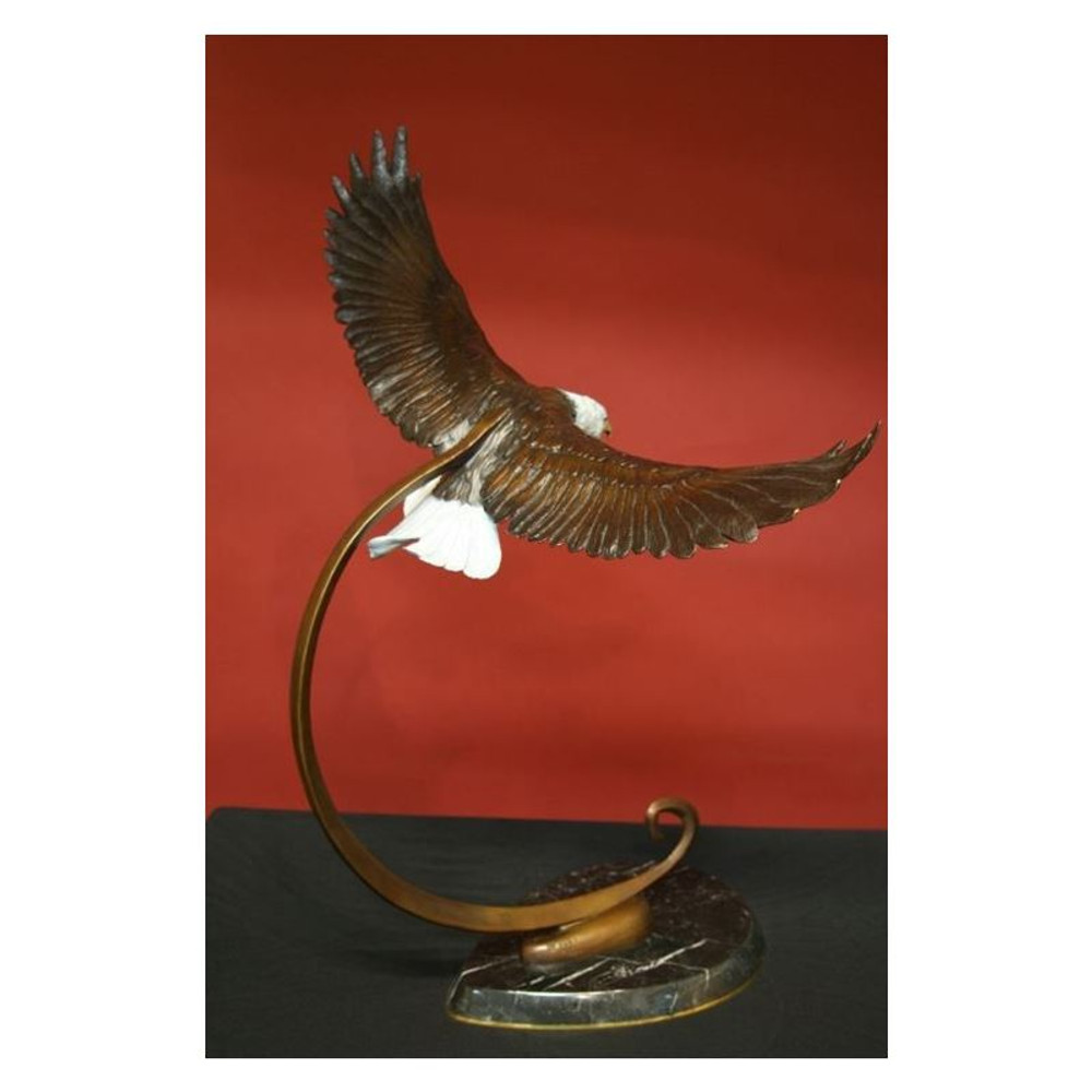 "Eagle Bronze Sculpture ""On Wings of Eagles"""