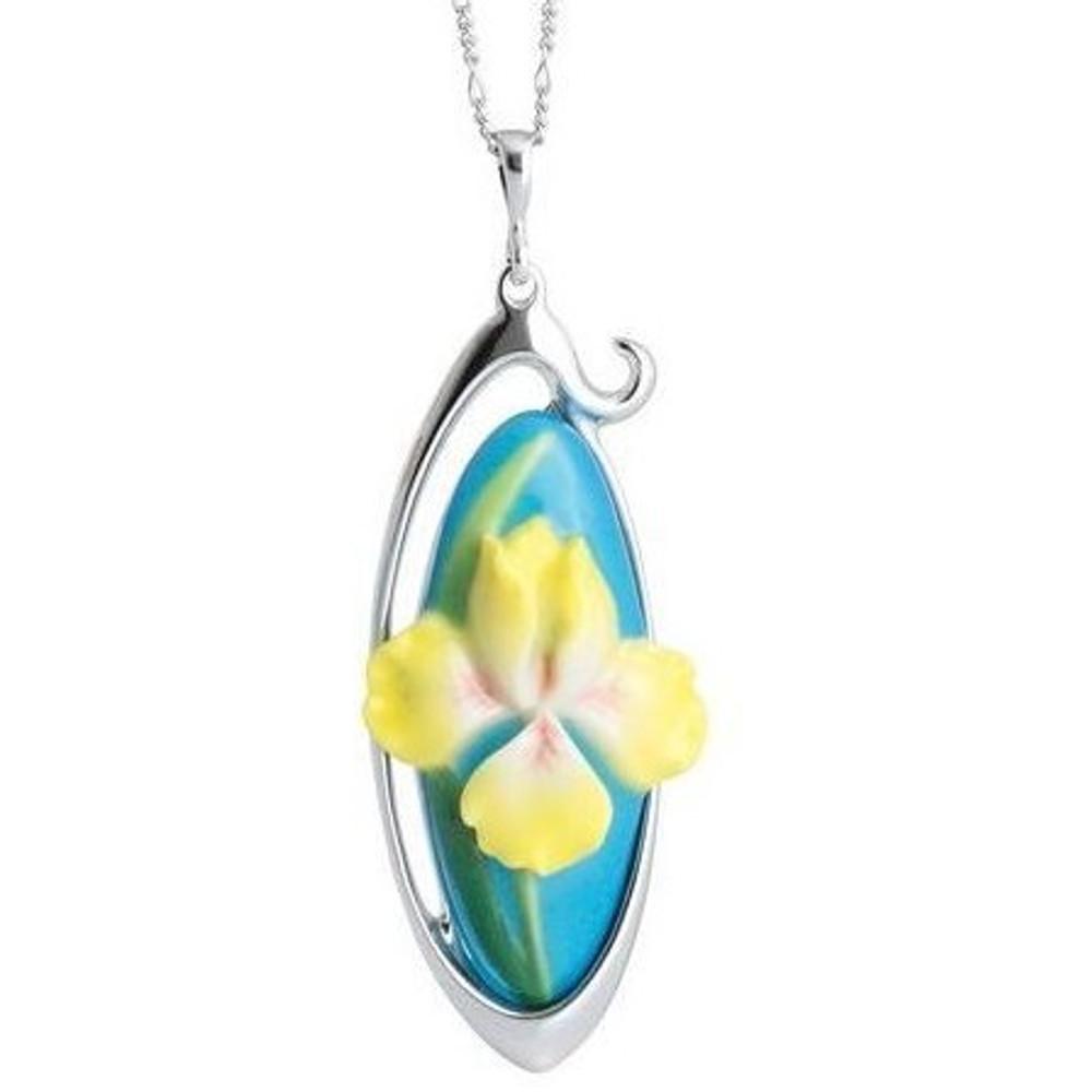 Yellow Iris Necklace | Franz Porcelain Jewelry | FJ00324 -2