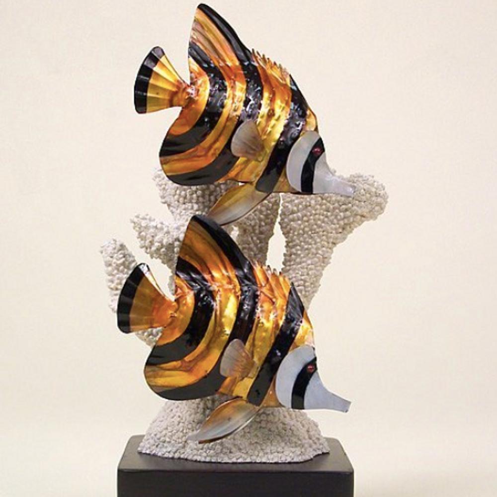 Butterfly Fish Sculpture   TI Design   W303