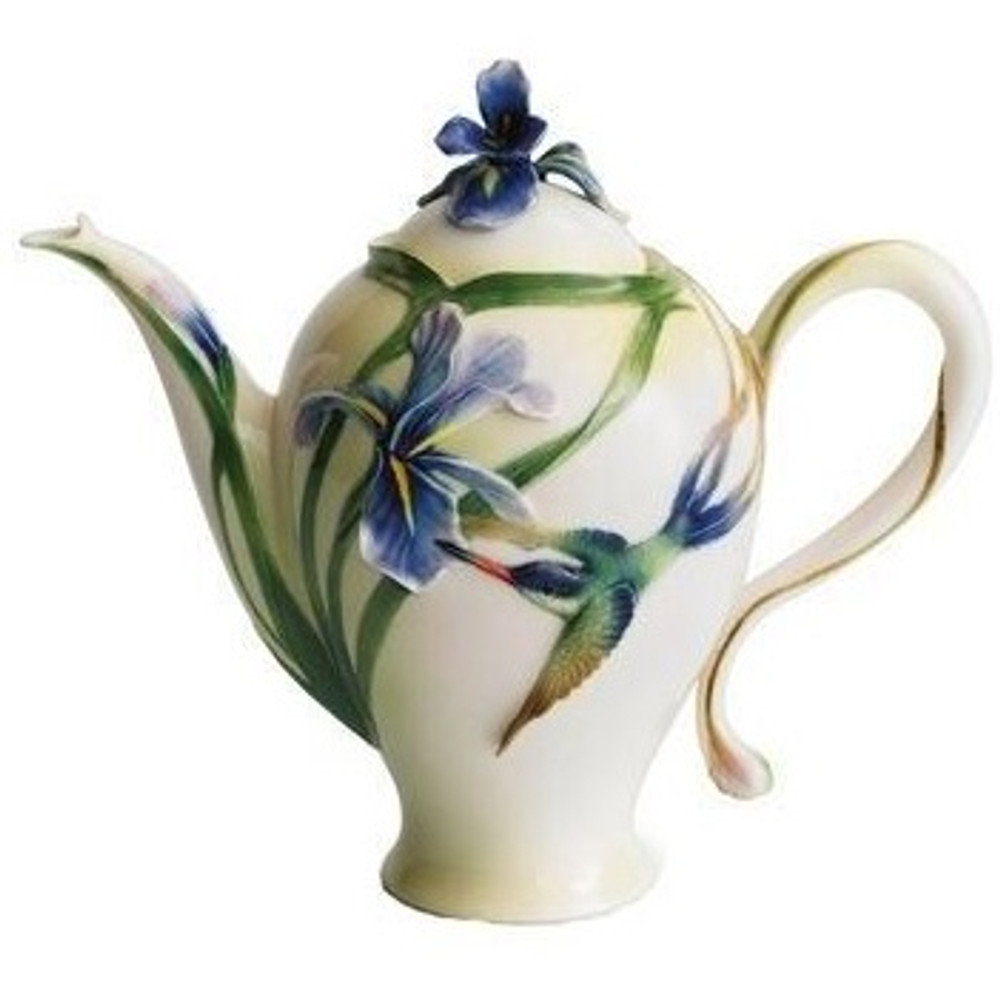 Hummingbird Teapot | fz00132 | Franz Porcelain Collection -2
