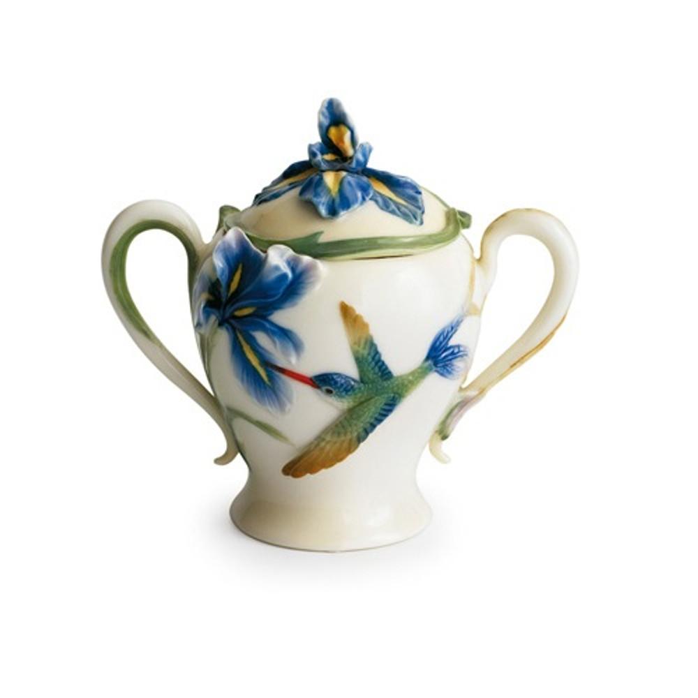 Long Tail Hummingbird Sugar Jar | fz00134 | Franz Porcelain Collection