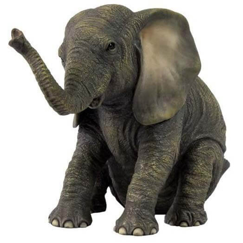 Sitting Baby Elephant Sculpture | Unicorn Studios | USIWU75410AA