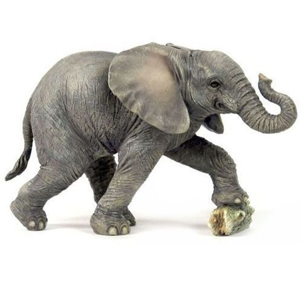 Elephant Baby Kicking Rock Sculpture | Unicorn Studios | USIWU75552AA