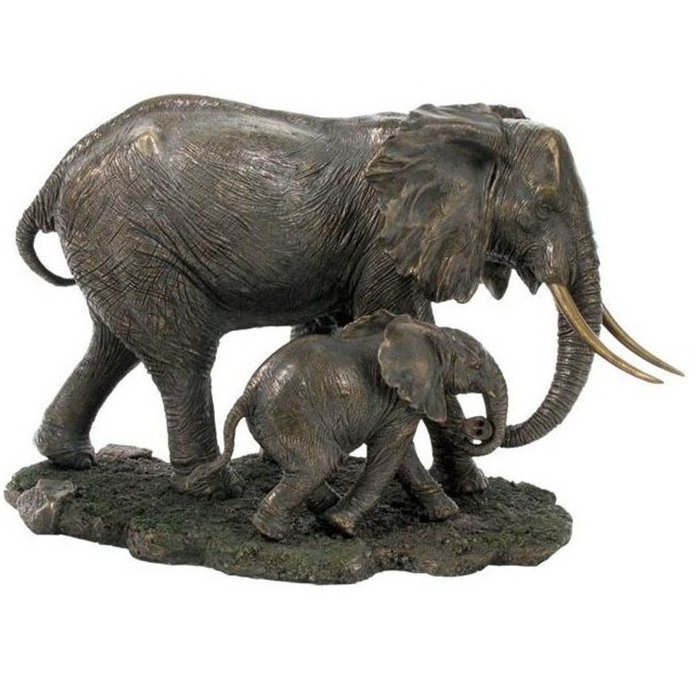 Elephant and Baby Sculpture | Unicorn Studios | wu74802a4