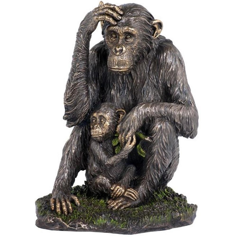 Chimpanzee and Baby Sculpture   Unicorn Studios   wu74874a4