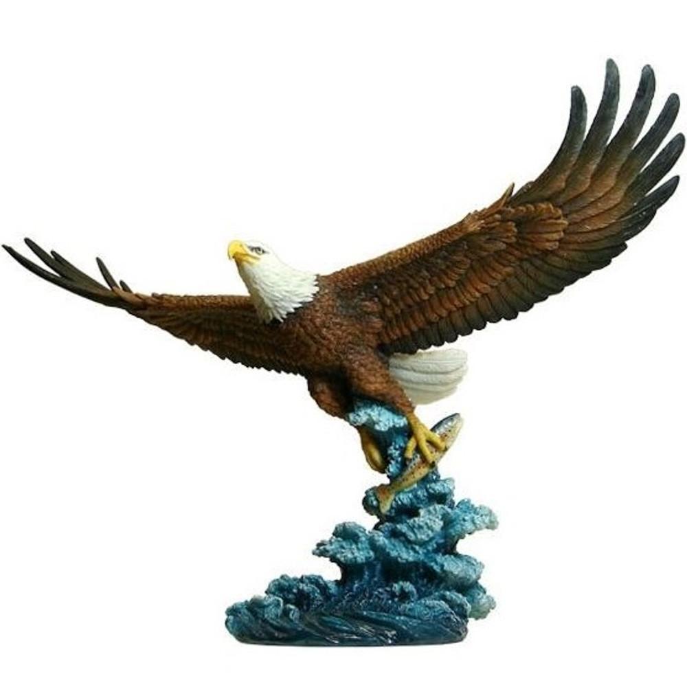 Eagle Catching Fish Sculpture   Unicorn Studios   wu74876aa