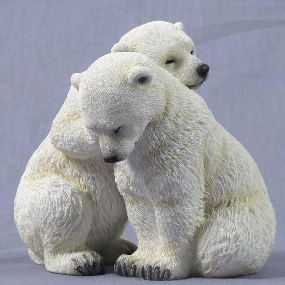 Polar Bear Cubs Sculpture | Unicorn Studios | WU75230AA
