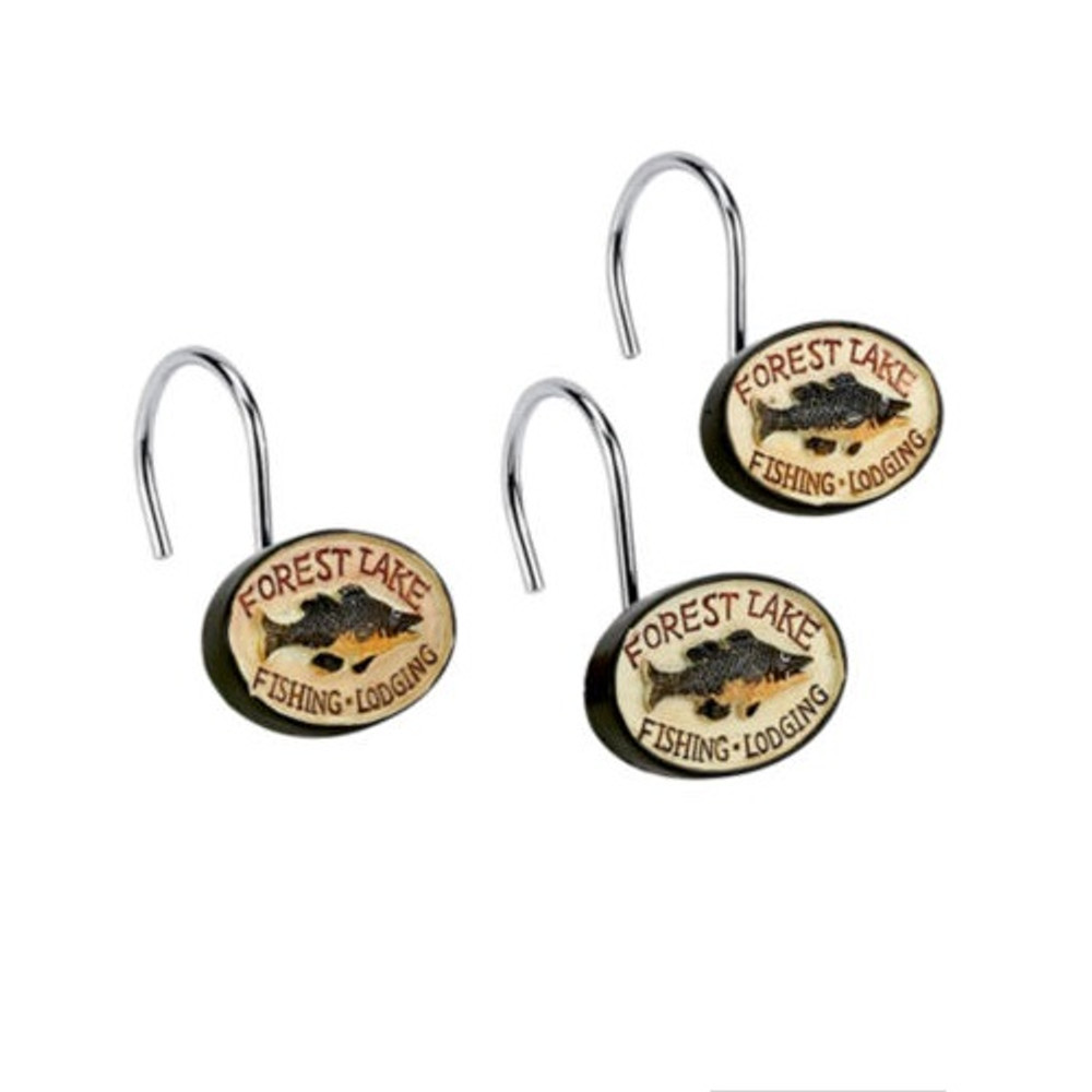 Rather be Fishing Shower Curtain & Hooks Set | AVA13013G-H -2