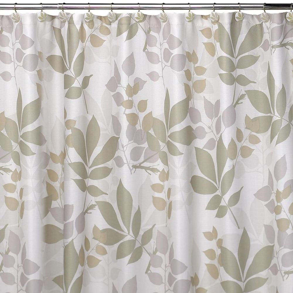 Shadow Leaves Shower Curtain   Creative Bath   S0987