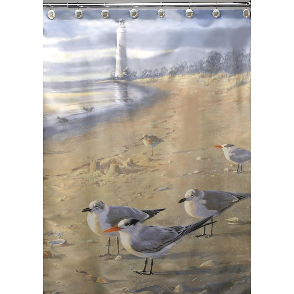 Sandpiper Shower Curtain At The Beach | Creative Bath | S1023