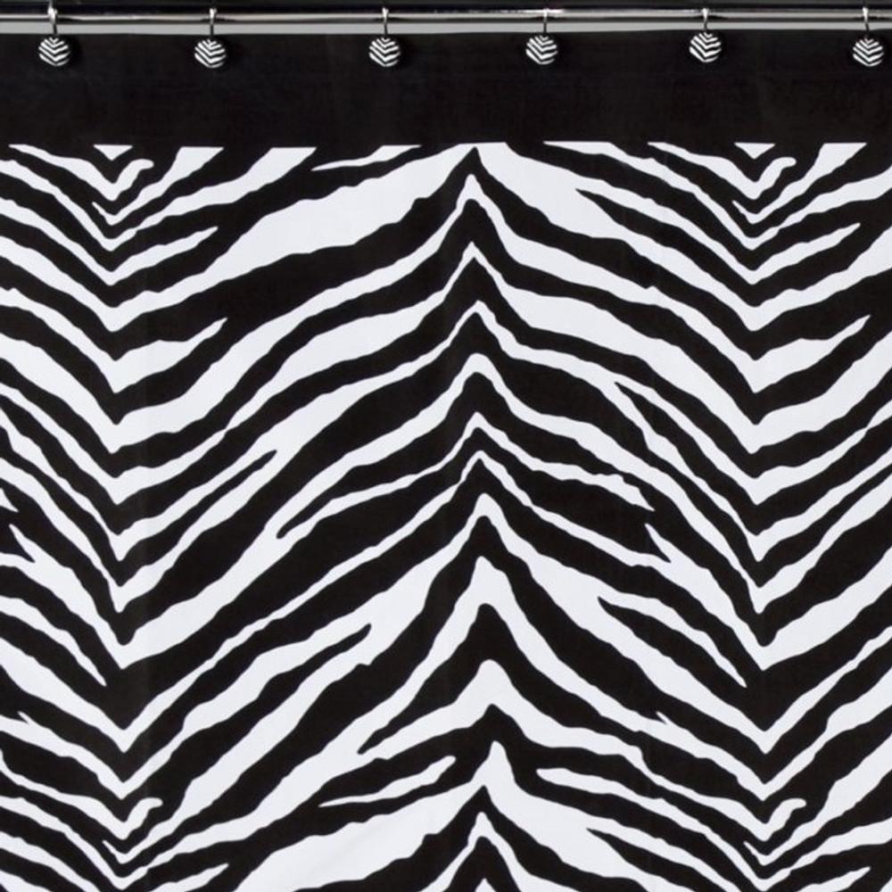 Zebra Print Shower Curtain | Creative Bath | S1050