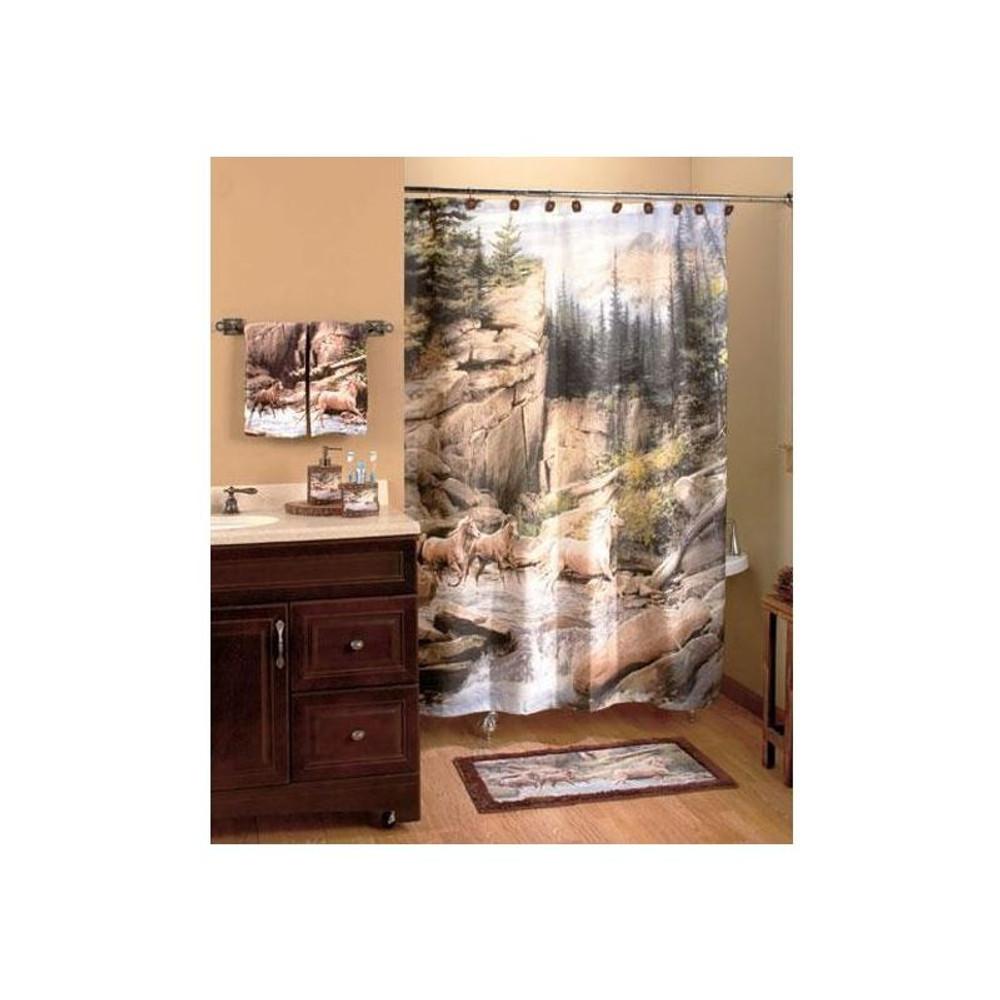 Horse Canyon Shower Curtain | Creative Bath | CBS1093 -2