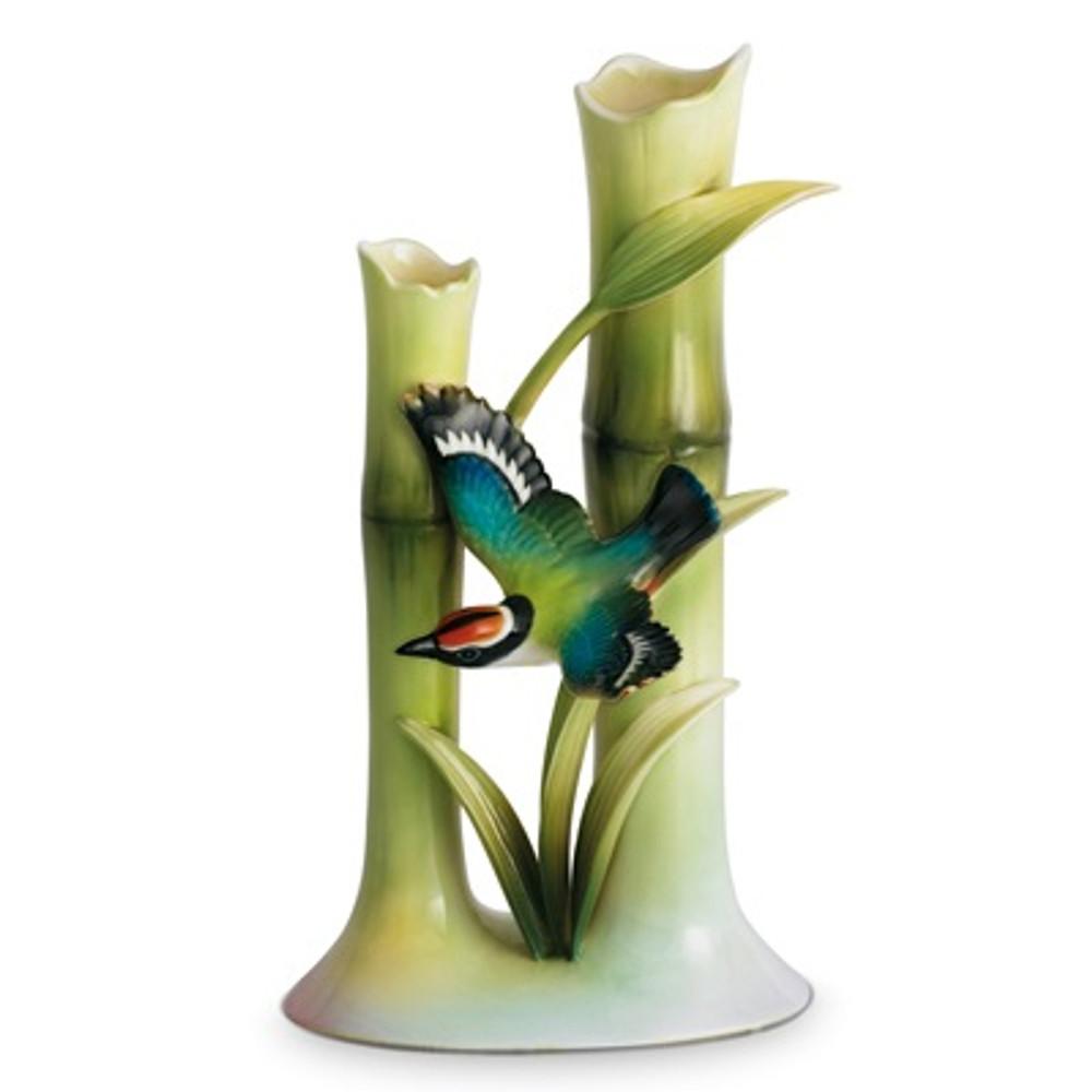 Bamboo Songbird Bud Vase   fz00568   Franz Porcelain Collection -2