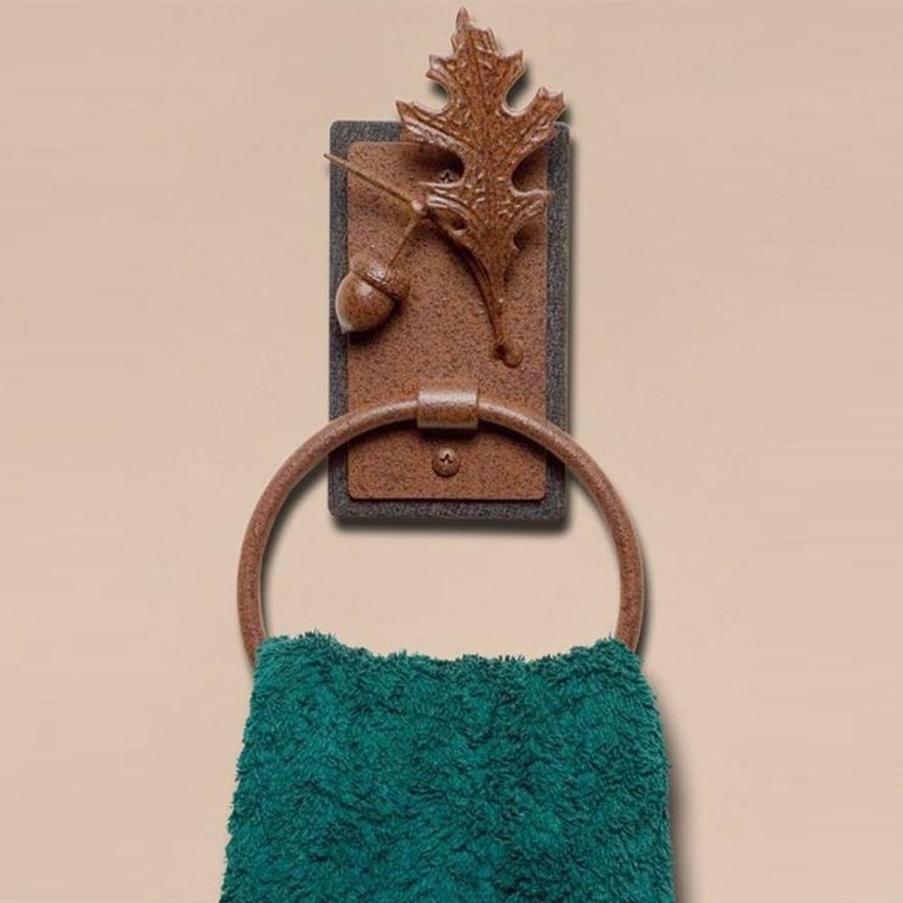 Oak Leaf & Acorn Towel Ring | Colorado Dallas | CDTR09