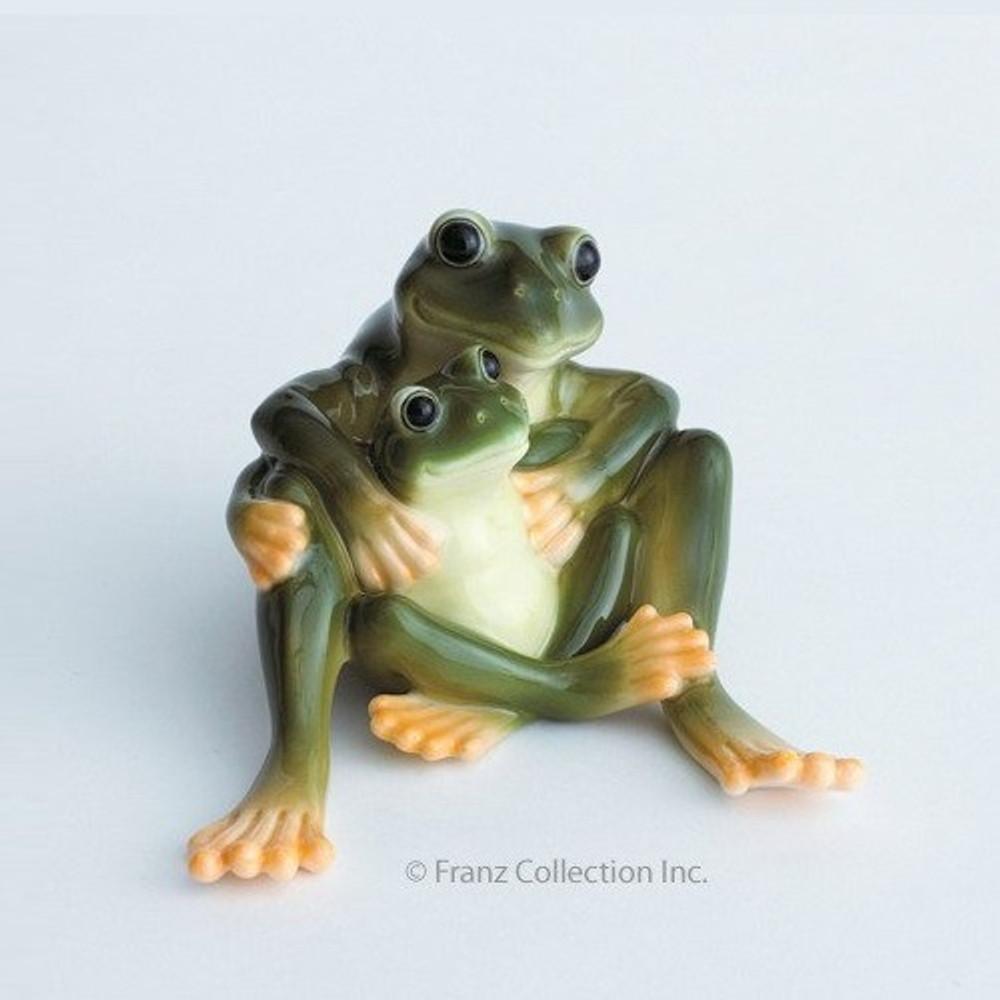 Frog Collection Mother & Daughter Figurine | Franz Porcelain