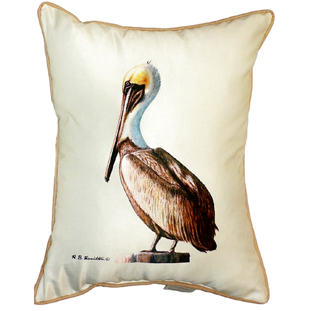 Pelican Indoor Outdoor Pillow 20x24 | Betsy Drake | BDZP035