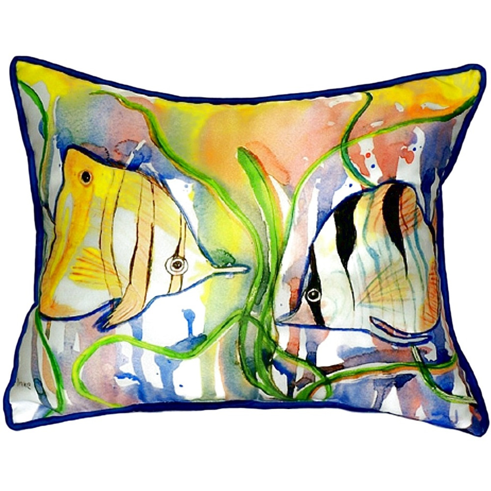Angelfish Indoor Outdoor Pillow | Betsy Drake | BDZP305