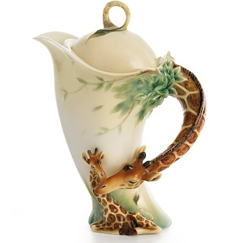 Giraffe Porcelain Teapot | FZ00759 | Franz Porcelain Collection -2