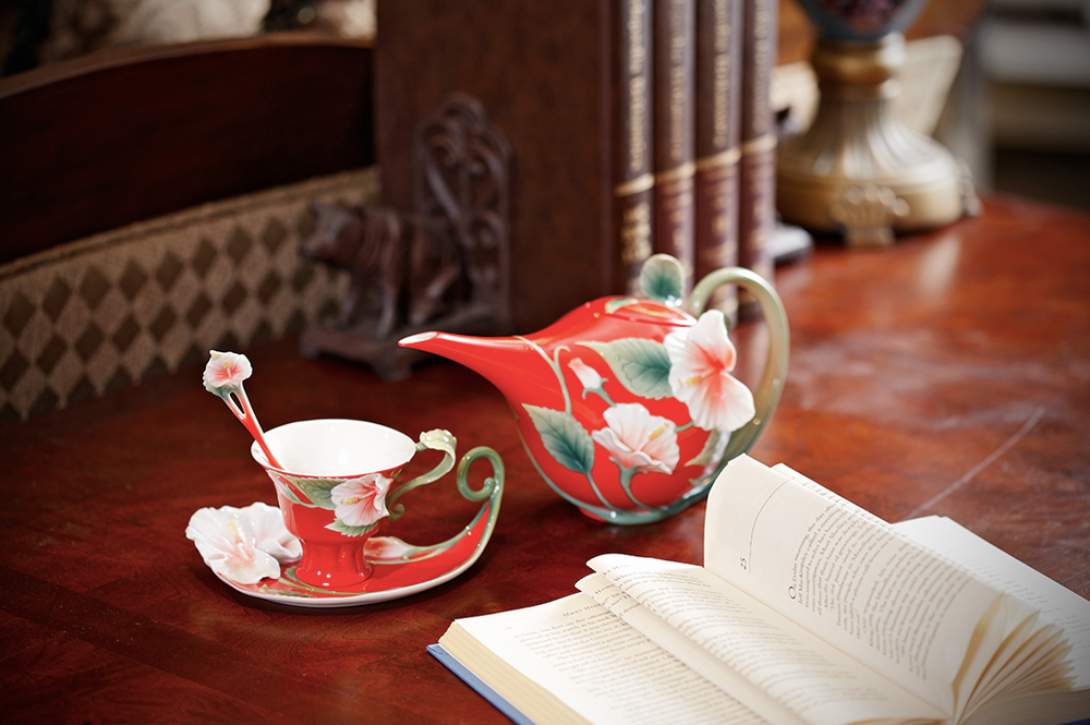 Island Beauty Hibiscus Cup Saucer Spoon | fz00978 | Franz Porcelain Collection -3