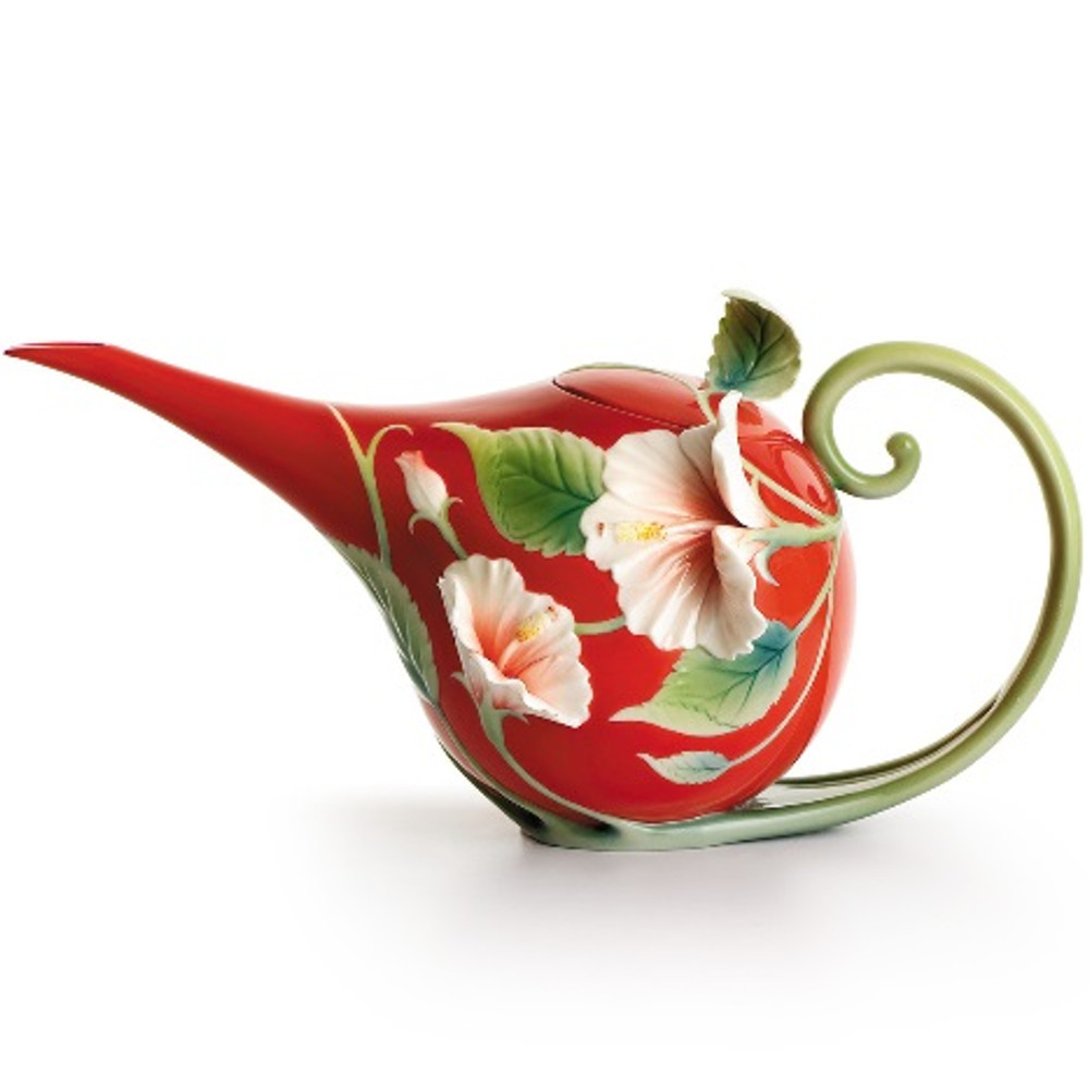 Island Beauty Hibiscus Teapot | fz00983 | Franz Porcelain Collection -2