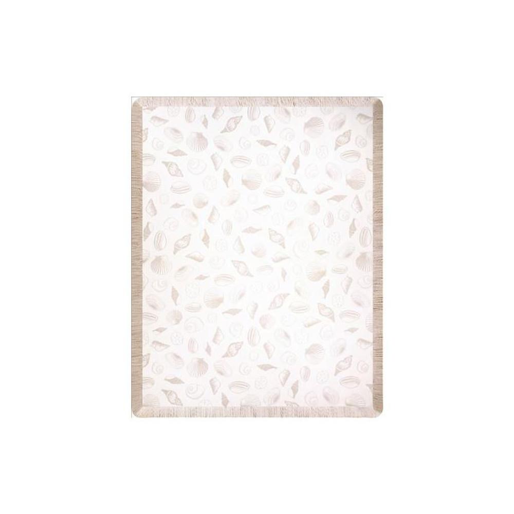 Sea Shells Throw Blanket | Manual Woodworkers | MWWA10ENB