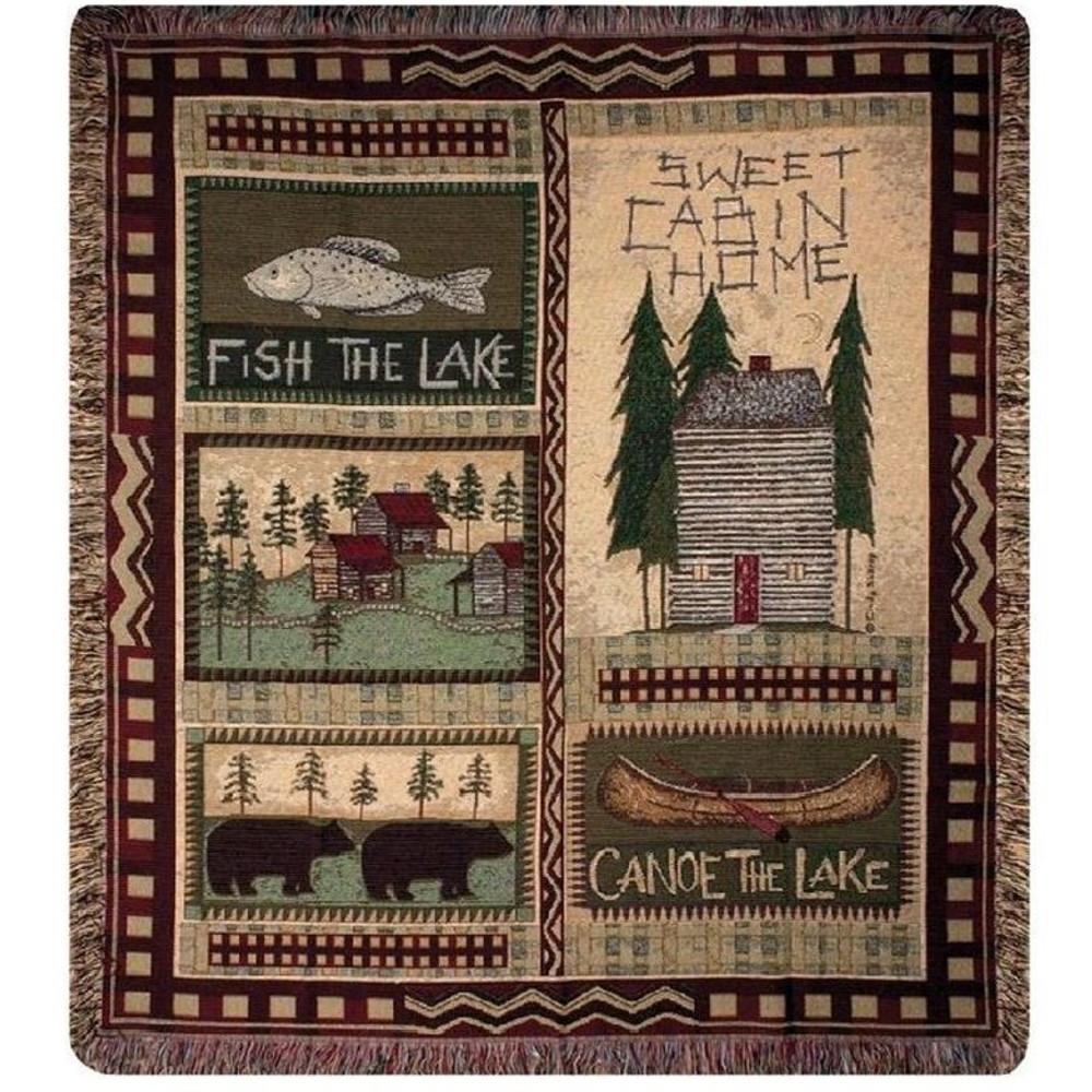 Bear Lodge Throw Blanket | Manual Woodworkers | MWWATBBLD