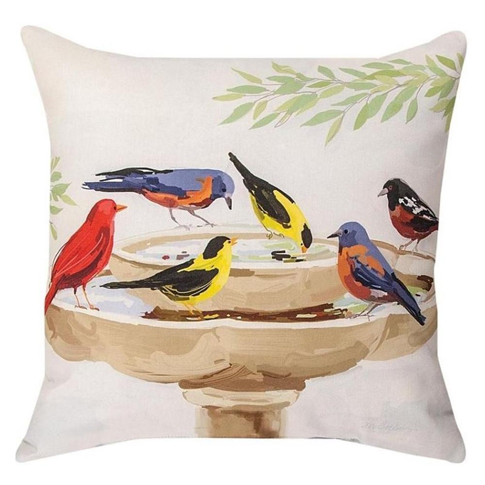 Bird Bath Throw Pillow Set Indoor Outdoor Pillows Manual Woodworkers